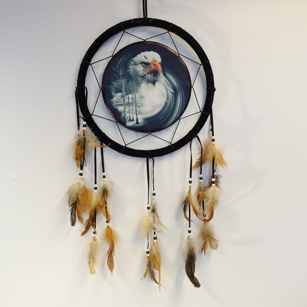 «Eagle and birchtrees» dreamcatcher 33 cm