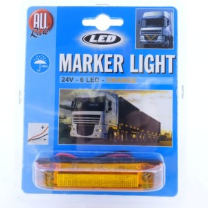 Torpedo light 24V 16 LED orange » Convoy Mail