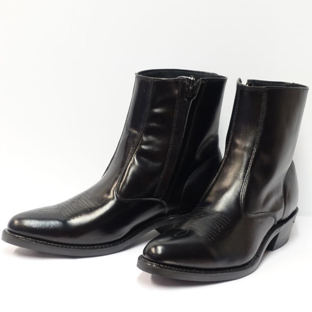 Black zipper boots