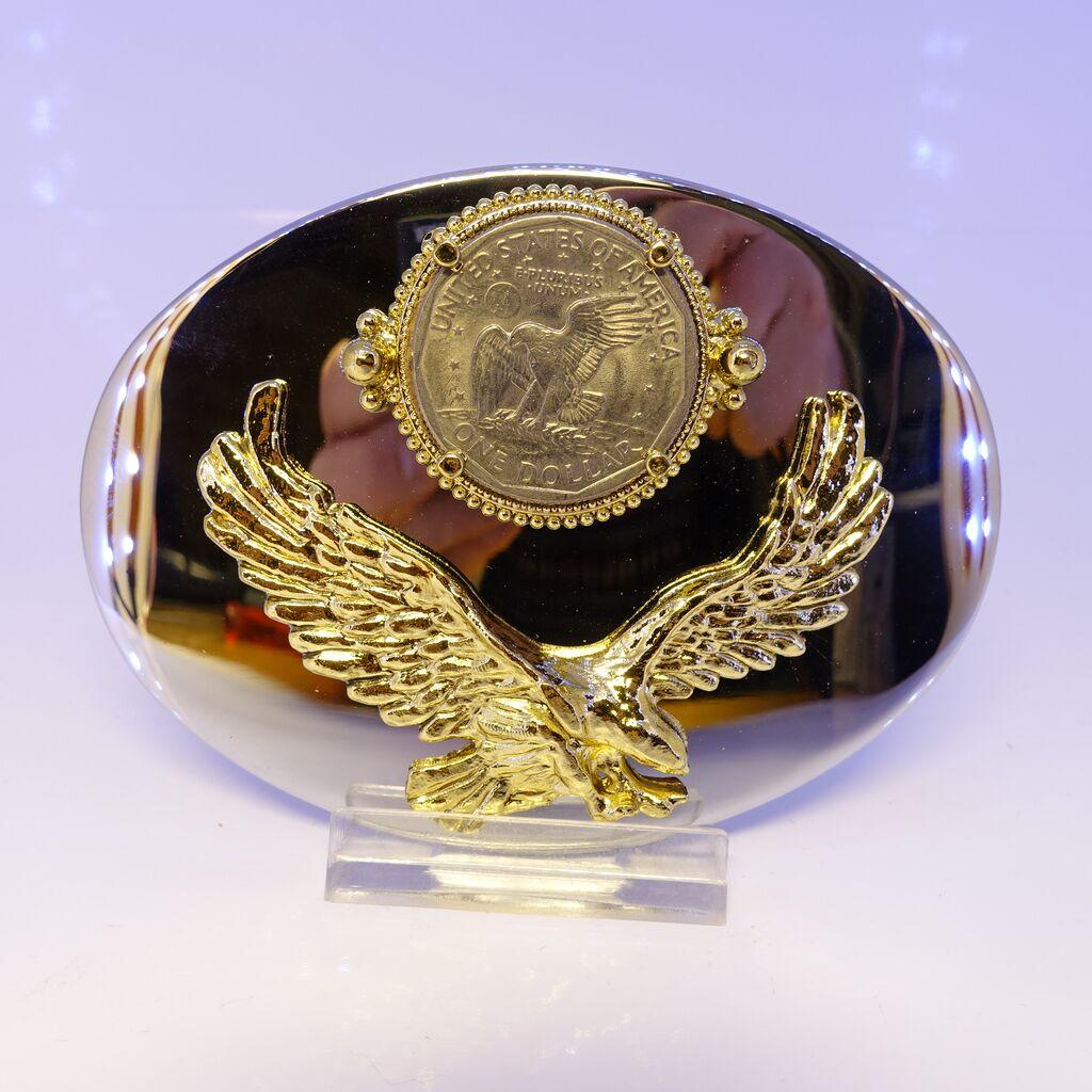 Eagle with Susan B dollar
